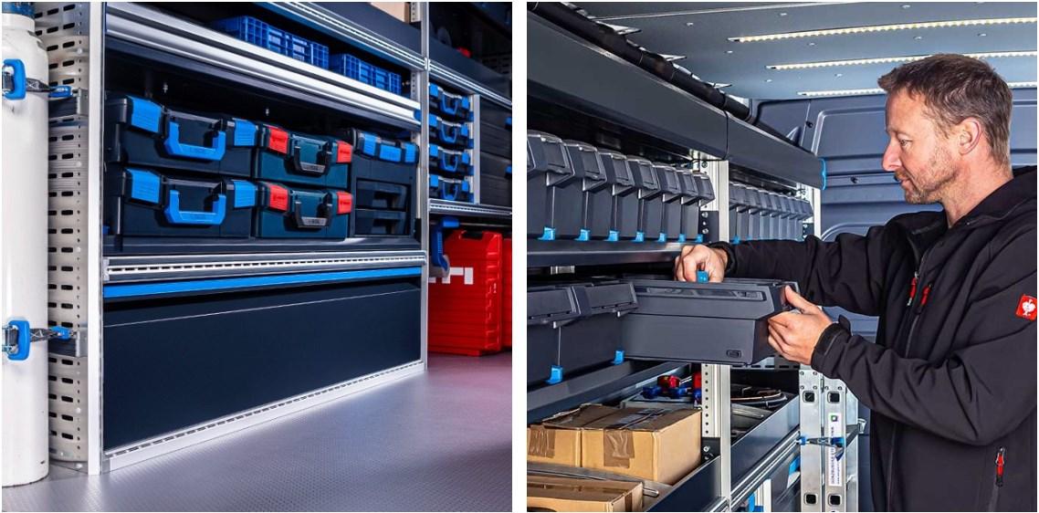 Новая стеллажная система для фургонов GLOBELYST 4